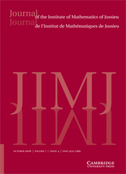 Journal of the Institute of Mathematics of Jussieu Volume 7 - Issue 4 -