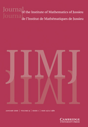 Journal of the Institute of Mathematics of Jussieu Volume 9 - Issue 1 -