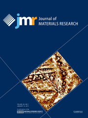 Journal of Materials Research Volume 26 - Issue 1 -