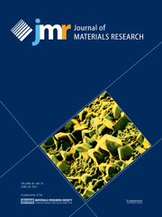Journal of Materials Research Volume 26 - Issue 12 -