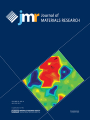Journal of Materials Research Volume 26 - Issue 14 -