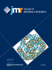 Journal of Materials Research Volume 26 - Issue 16 -