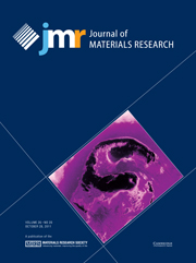 Journal of Materials Research Volume 26 - Issue 20 -