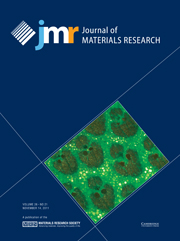 Journal of Materials Research Volume 26 - Issue 21 -