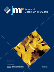 Journal of Materials Research Volume 26 - Issue 23 -