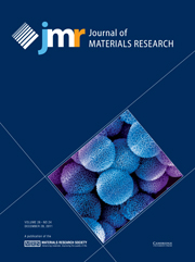 Journal of Materials Research Volume 26 - Issue 24 -