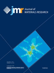 Journal of Materials Research Volume 26 - Issue 4 -