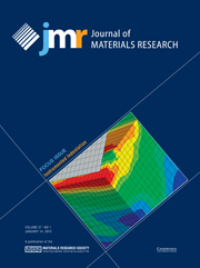 Journal of Materials Research Volume 27 - Issue 1 -  Focus Issue: Instrumented Indentation