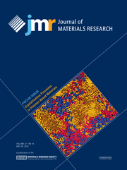 Journal of Materials Research Volume 27 - Issue 10 -  Focus Issue: Crystallization Processes in Polymer-Based Materials