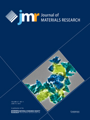 Journal of Materials Research Volume 27 - Issue 11 -