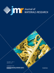 Journal of Materials Research Volume 27 - Issue 12 -