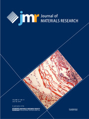 Journal of Materials Research Volume 27 - Issue 14 -