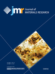 Journal of Materials Research Volume 27 - Issue 19 -