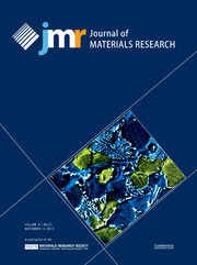 Journal of Materials Research Volume 27 - Issue 21 -
