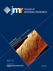 Journal of Materials Research Volume 27 - Issue 3 -  Focus Issue: Advances in Mechanics of One-Dimensional Micro/Nanomaterials