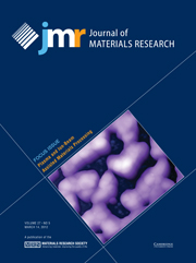 Journal of Materials Research Volume 27 - Issue 5 -  Focus Issue: Plasma and Ion-Beam Assisted Materials Processing