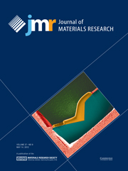 Journal of Materials Research Volume 27 - Issue 9 -