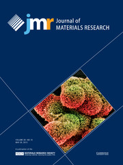Journal of Materials Research Volume 28 - Issue 10 -
