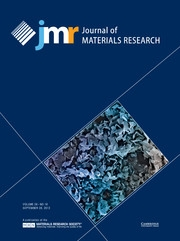 Journal of Materials Research Volume 28 - Issue 18 -