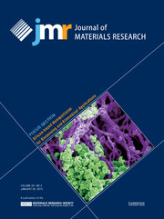 Journal of Materials Research Volume 28 - Issue 2 -  Focus Section: Silicon-based Nanoparticles for Biosensing and Biomedical Applications
