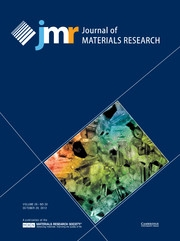 Journal of Materials Research Volume 28 - Issue 20 -