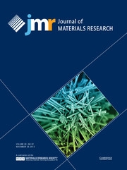 Journal of Materials Research Volume 28 - Issue 22 -