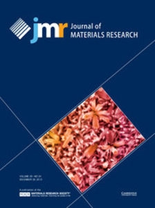 Journal of Materials Research Volume 28 - Issue 24 -