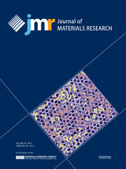 Journal of Materials Research Volume 28 - Issue 4 -