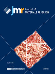 Journal of Materials Research Volume 28 - Issue 5 -