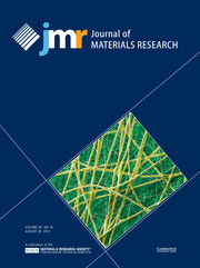 Journal of Materials Research Volume 29 - Issue 16 -