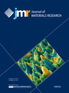 Journal of Materials Research Volume 29 - Issue 20 -