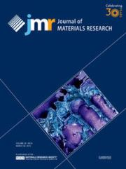 Journal of Materials Research Volume 30 - Issue 16 -