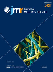Journal of Materials Research Volume 30 - Issue 20 -