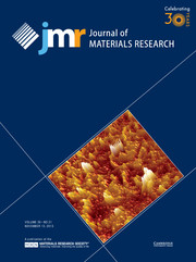 Journal of Materials Research Volume 30 - Issue 21 -