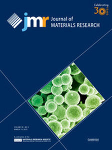 Journal of Materials Research Volume 30 - Issue 5 -