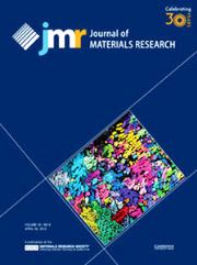 Journal of Materials Research Volume 30 - Issue 8 -