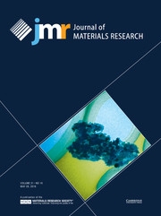 Journal of Materials Research Volume 31 - Issue 10 -