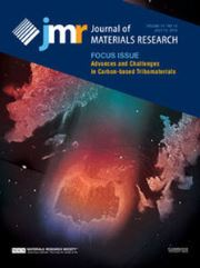 Journal of Materials Research Volume 31 - Issue 13 -  Focus Issue: Advances and Challenges in Carbon-based Tribomaterials