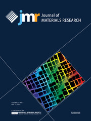 Journal of Materials Research Volume 31 - Issue 9 -