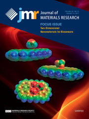 Journal of Materials Research Volume 32 - Issue 15 -  Focus Issue: Two-Dimensional Nanomaterials for Biosensors