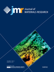 Journal of Materials Research Volume 32 - Issue 16 -