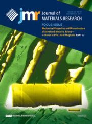 Journal of Materials Research Volume 32 - Issue 23 -  Focus Issue: Mechanical Properties and Microstructure of Advanced Metallic Alloys—in Honor of Prof. Haël Mughrabi PART A
