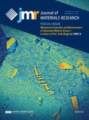 Journal of Materials Research Volume 32 - Issue 24 -  Focus Issue: Mechanical Properties and Microstructure of Advanced Metallic Alloys—in Honor of Prof. Haël Mughrabi PART B