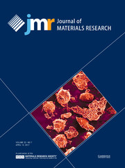 Journal of Materials Research Volume 32 - Issue 7 -