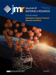 Journal of Materials Research Volume 33 - Issue 13 -  Focus Issue: Stabilization of Organic Electronic Materials and Devices
