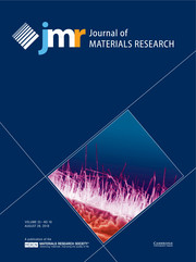 Journal of Materials Research Volume 33 - Issue 16 -