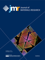 Journal of Materials Research Volume 33 - Issue 18 -