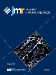 Journal of Materials Research Volume 33 - Issue 20 -
