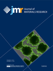 Journal of Materials Research Volume 33 - Issue 23 -