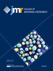Journal of Materials Research Volume 33 - Issue 6 -